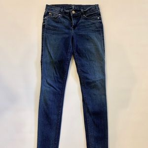 Seven  7 for all mankind skinny jeans dark wash
